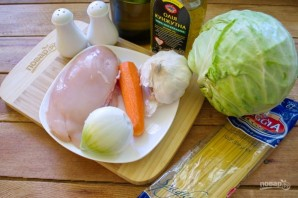 Якисоба с курицей - фото шаг 1