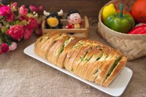 Батон с сыром и зеленью - фото шаг 5