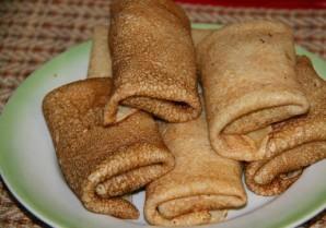 Блинчики с копченой колбасой - фото шаг 9