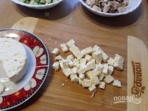 Слоеные корзинки с цукини и соленым сыром - фото шаг 3
