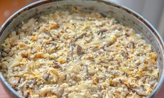 Пирог с грибами перевертыш - фото шаг 3