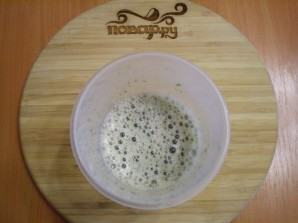 Зеленый коктейль со сливой - фото шаг 4