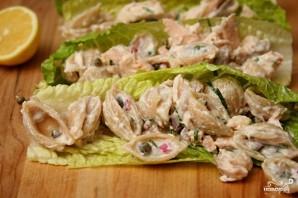 Салат с пастой и лососем - фото шаг 3