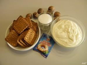 Торт из печенья без выпечки со сметаной - фото шаг 1