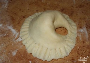 Пирожки с индейкой в духовке - фото шаг 9
