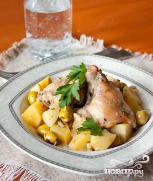 Тушеный кролик с картофелем и оливками - фото шаг 6