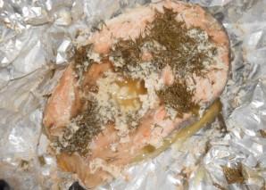 Семга под сливочным соусом в духовке - фото шаг 10