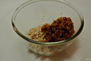 Волованы с салатом из кукурузы и грибов - фото шаг 16