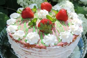 Клубничный торт с заварным кремом - фото шаг 13
