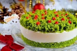 """Новогодний торт """"Лесной мох"""" - фото шаг 20"""