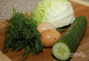 Салат с капустой и огурцом - фото шаг 1