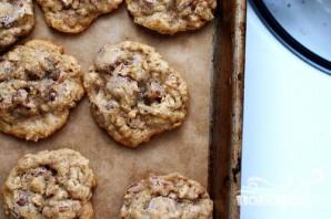 Овсяное печенье с орехами и шоколадом - фото шаг 3