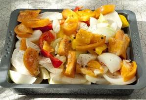 Минтай с овощами в духовке - фото шаг 2