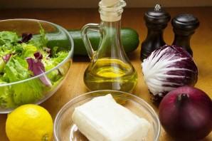 Салат с жареным халуми - фото шаг 1
