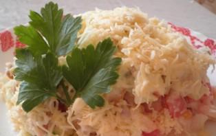 Простой салат с куриным филе - фото шаг 4