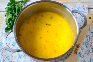 Сырный суп с лососем и рисом - фото шаг 4