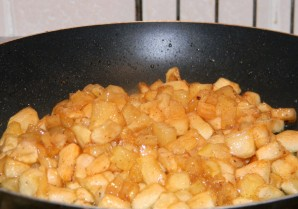 Блинчики с яблочной начинкой - фото шаг 3