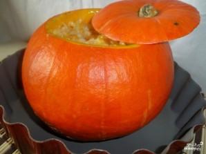 Фаршированная тыква, запеченная в духовке с рисом - фото шаг 4