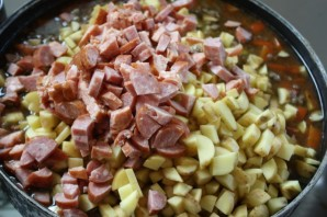 Суп из чечевицы с копченостями - фото шаг 5