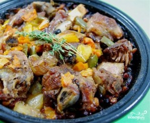 Баранина с овощами в тажине - фото шаг 8