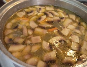 Фасолевый суп с грибами   - фото шаг 9