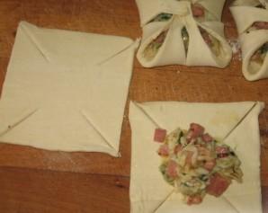 Хачапури с ветчиной и сыром - фото шаг 4