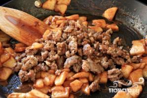 Французские тосты с яблоками и колбасой - фото шаг 2