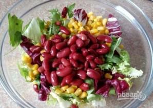 Салат с куриной грудкой и фасолью - фото шаг 2