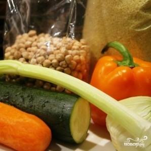 Нут с курицей и овощами - фото шаг 2