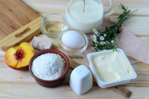 Хачапури с сыром и персиками - фото шаг 1