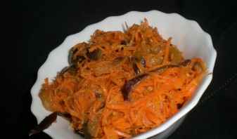 Синенькие с морковкой по-корейски - фото шаг 6