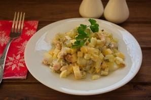 Салат обалденный с копченой курицей - фото шаг 5