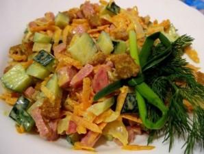 Салат с колбасой полукопченой - фото шаг 9