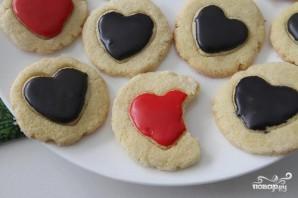 Печенье-валентинки из кукурузной муки - фото шаг 8