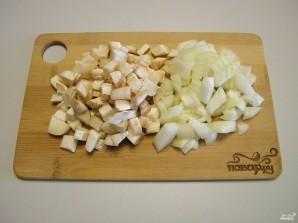 Фаршированные шампиньоны в духовке с сыром - фото шаг 3