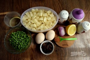 Королевский картофельный салат - фото шаг 7