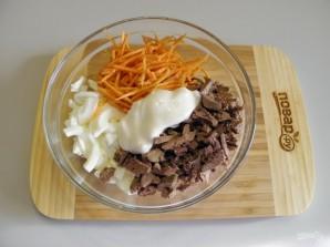 """Салат """"Петушок"""" с корейской морковкой - фото шаг 3"""
