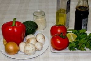 Вегетарианский салат с авокадо - фото шаг 1