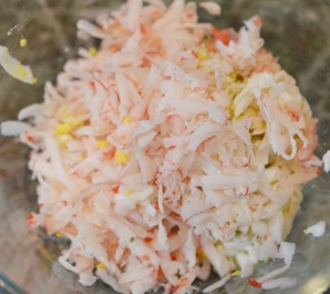Крабово-сырные шарики - фото шаг 2