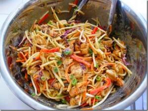 Курица с рисовой лапшой и овощами - фото шаг 7