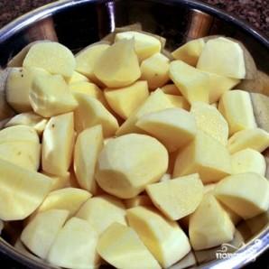 Сырная запеканка с мясом и картофелем - фото шаг 1