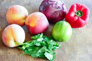 Салат с персиками и овощами - фото шаг 1