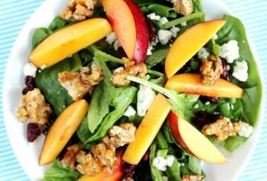 Салат из шпината и персиков - фото шаг 11