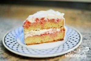 Клубничный торт - фото шаг 11