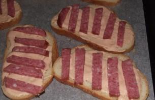 Бутерброды с копченой колбасой - фото шаг 1