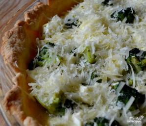 Киш с брокколи и сыром фета - фото шаг 7