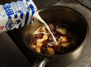 Говядина с картошкой на сковороде   - фото шаг 4
