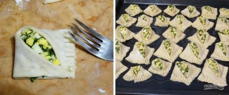 Хачапури с творогом и зеленью - фото шаг 3