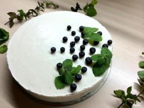 Торт из творога и желатина без выпечки - фото шаг 10