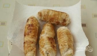 Рулетики из грудки курицы - фото шаг 5